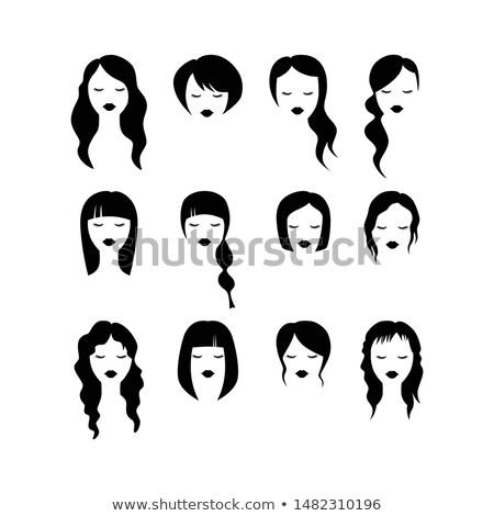 Fodrász nő haj bolt női nők Stock fotó © Kzenon
