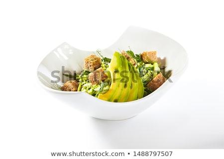 Avokádó előétel egészséges eper saláta fa Stock fotó © Digifoodstock