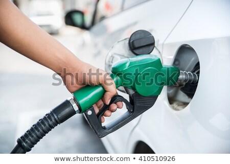 Benzyny pompować ilustracja biały tle głowie Zdjęcia stock © bluering