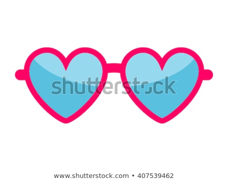 Glasses with heart Stock photo © illustrart