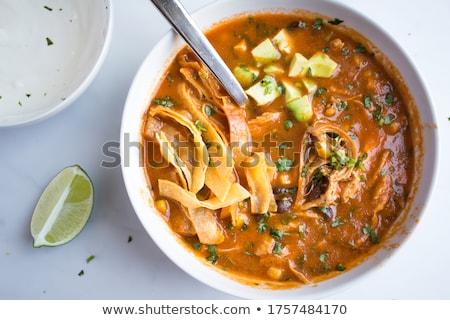 Tortilla voedsel witte diner cafe groenten Stockfoto © racoolstudio