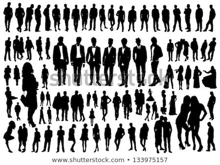 Set uomini silhouette dettagliato colore Foto d'archivio © angelp