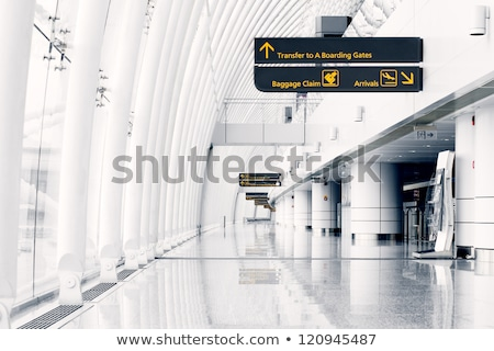 Hallway of airport Stock photo © zurijeta