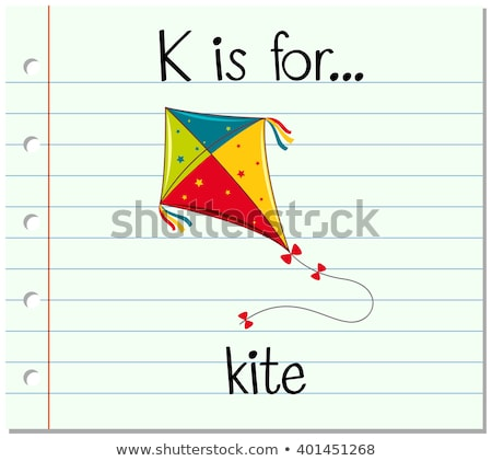 Flashcard letter K is for kite Stock photo © bluering