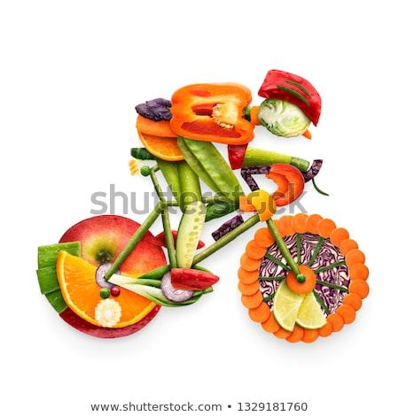Criador comida foto bicicleta frutas Foto stock © Fisher