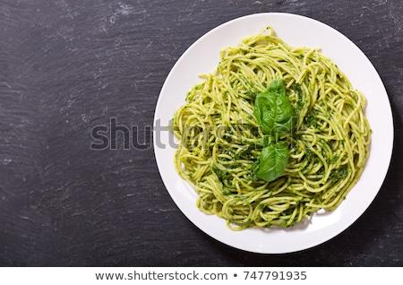 pasta pesto and vegetables Stock photo © keko64