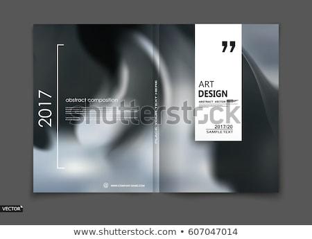 черно белые журнала буклет страница шаблон Сток-фото © SArts