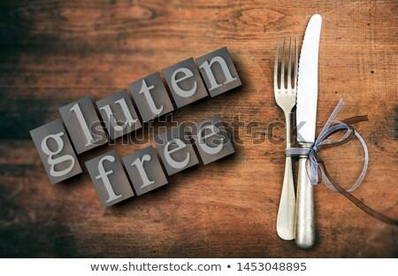 Glutenvrij bericht tarwe top dieet teken Stockfoto © Tefi