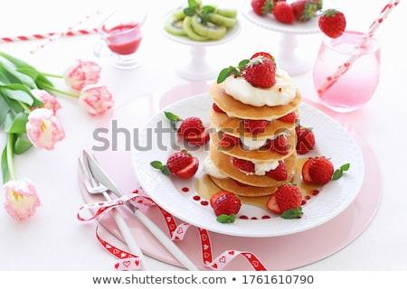 truskawki · jam · krem · tablicy · chleba - zdjęcia stock © digifoodstock