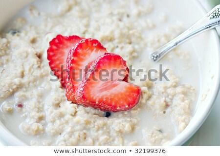 сердце клубника ложку сахар продовольствие Сток-фото © mady70