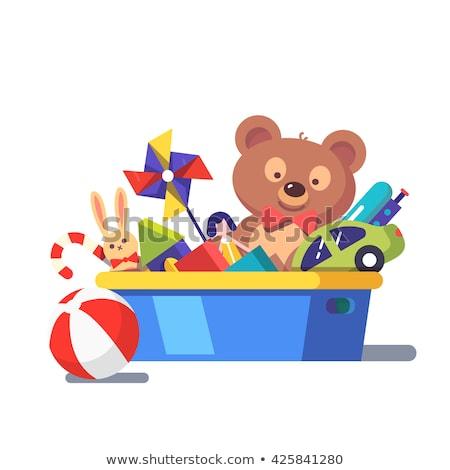Vector cartoon style illustration of toy bear. Stock photo © curiosity