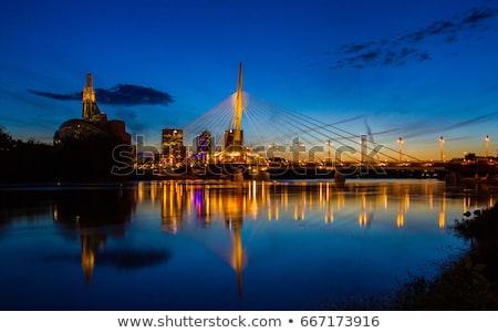 Skyline of Winnipeg Stock photo © benkrut