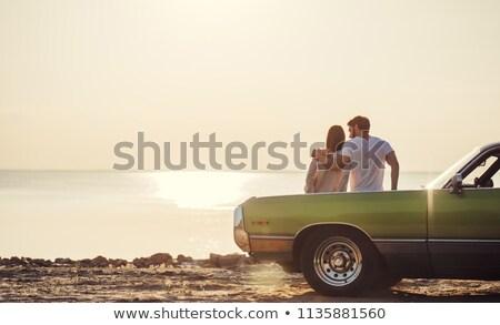 Pár ül együtt autó fiatal pér férfi Stock fotó © wavebreak_media