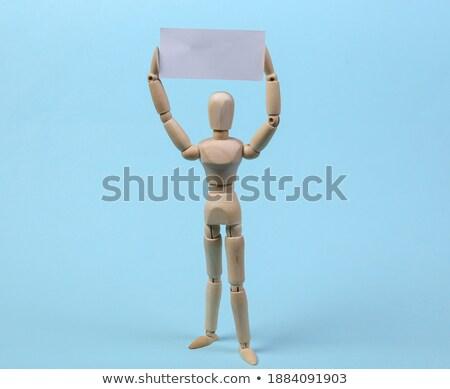 Figurilla cartel blanco triste Foto stock © wavebreak_media