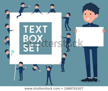 school boy gakuran text box Stock photo © toyotoyo