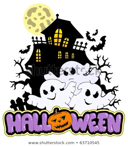 Haunted house with ghosts theme 3 Stock photo © clairev