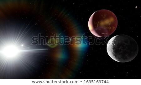Yörünge gezegenler uzay örnek soyut doğa Stok fotoğraf © bluering