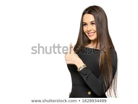 Elégedetlen nő pózol izolált gesztikulál kéz Stock fotó © deandrobot