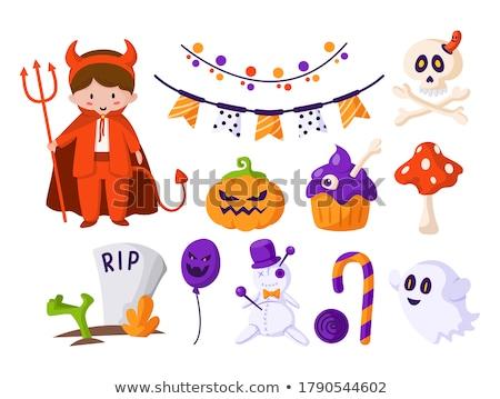 Miedo Cartoon dulces ilustración mirando Foto stock © cthoman