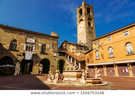 Piazza Vecchia in Bergamo Stock photo © boggy