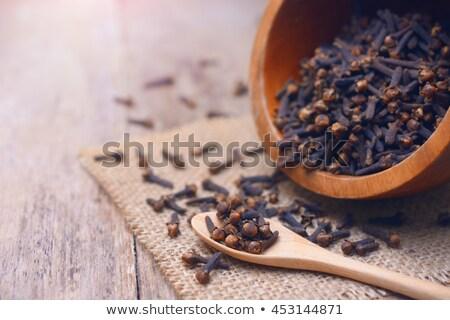 Kom gedroogd kruidnagel glas voedsel gezonde Stockfoto © Digifoodstock