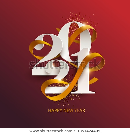 Happy New Year. Greeting card with inscription Happy New Year Stock photo © FoxysGraphic