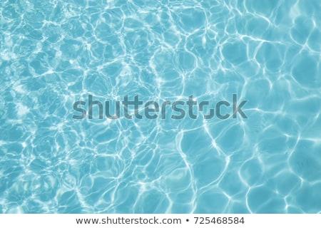 бассейна · синий · воды · текстуры · волновая · картина · лет - Сток-фото © taviphoto