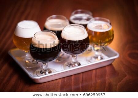Craft dark beer in goblet Stock photo © brulove