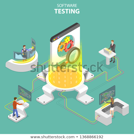 Product testing concept landing page. Stock photo © RAStudio