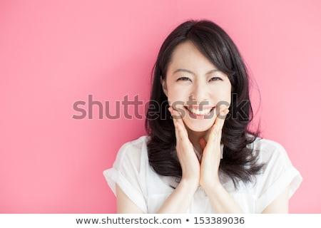 портрет · довольно · возбужденный · молодые · азиатских - Сток-фото © deandrobot