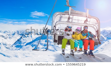 Ski lift chair in the Alps Stock photo © michaklootwijk