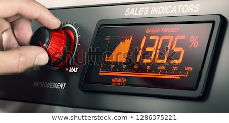 Salesforce Motivation. Exceed Sales Target Concept. Stock photo © olivier_le_moal