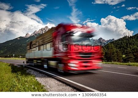 kamyonlar · teslim · otoban · taşımacılık · lojistik · hızlandırmak - stok fotoğraf © cookelma