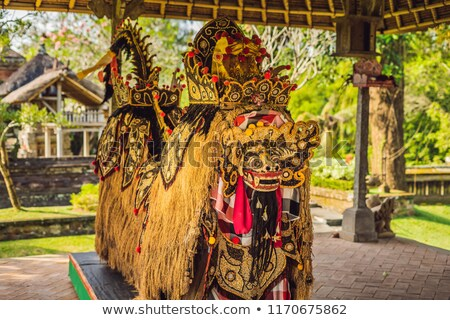 A statue of grains, a symbol of fertility Bali Indonesia Stock photo © galitskaya
