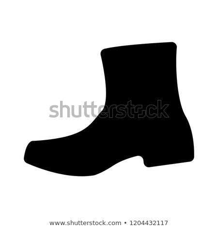 обувь сапогах изолированный белый фон искусства Сток-фото © frescomovie
