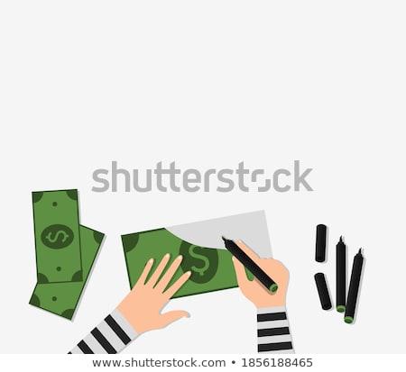 Counterfeiter draws money dollars Stock photo © rogistok