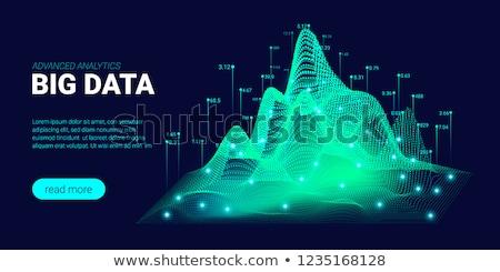 Elektronische muziek landing pagina hoofdtelefoon draaitafel Stockfoto © RAStudio