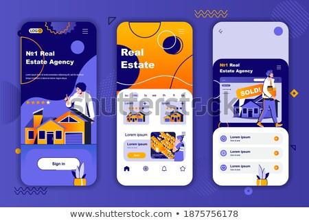 Personalized selling app interface template. Stock photo © RAStudio
