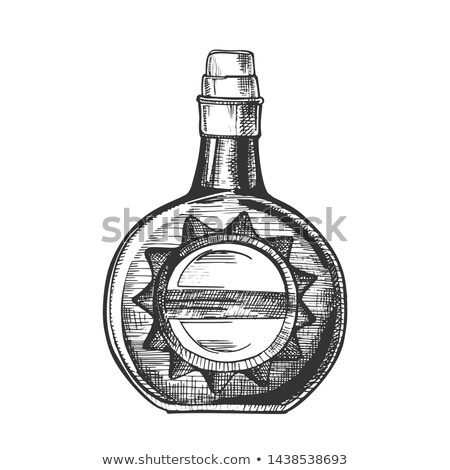 Circle Whisky Bottle With Stylish Cork Cap Vector stock photo © pikepicture
