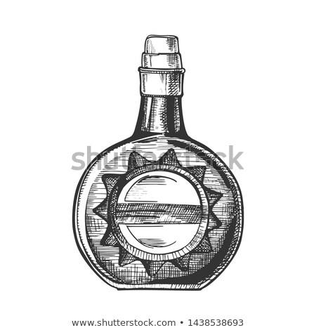 Cirkel whisky fles stijlvol kurk cap Stockfoto © pikepicture
