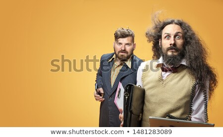 Portrait of a two nerdy businessmen  Stock photo © majdansky