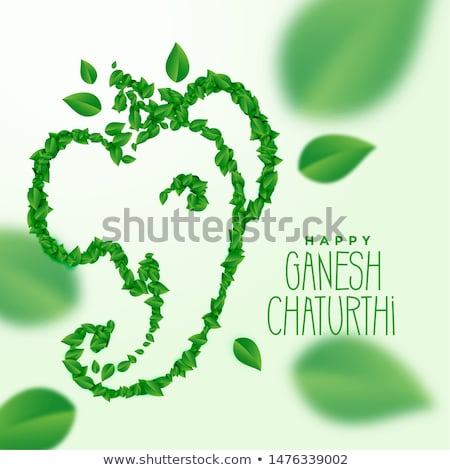 ganesh ji made with green leaves concept design Stock photo © SArts