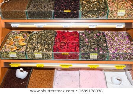 トルコ語 茶 市場 クローズアップ 花 食品 ストックフォト © boggy