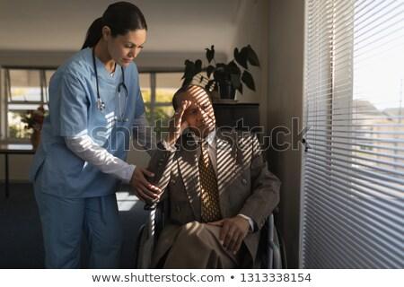 Photo stock: Vue · Homme · médecin · triste · supérieurs