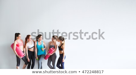 training adult in studio white background Stock photo © Lopolo