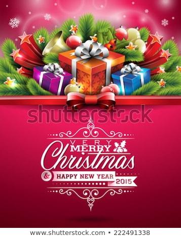 Zdjęcia stock: Wesoły · christmas · festiwalu · powitanie · star · piłka