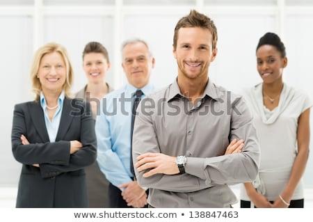 Retrato jovem pessoas de negócios em pé olhando Foto stock © wavebreak_media