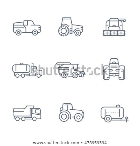 Tracteur véhicule vecteur léger ligne Photo stock © pikepicture