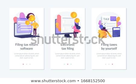 Adó visszatérés szoftver app interfész sablon Stock fotó © RAStudio