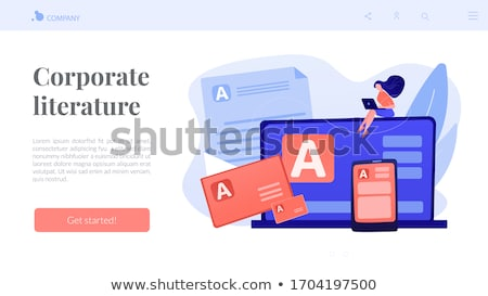 Corporate literature concept landing page. Stock photo © RAStudio